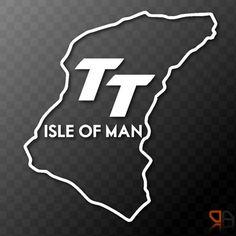 Isle of Man TT - race track outline vinyl decal sticker graphic Motorcycle Bike