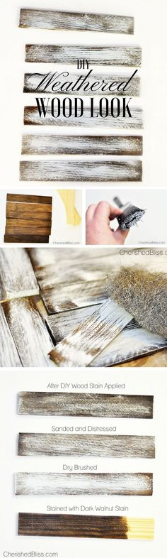 15 DIY Tricks for Home Decor - 14.DIY Weathered Wood Look - Diy & Crafts Ideas Magazine