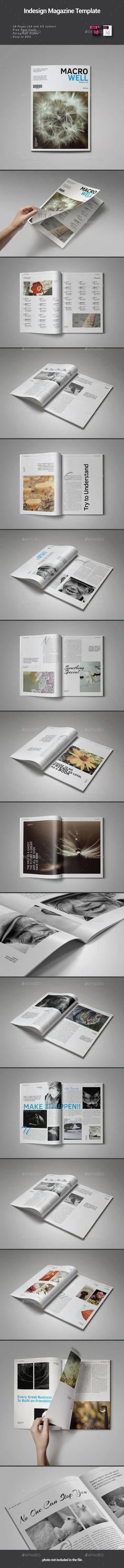 Macro Well Magazine Template by thirtypath FEATURES :28 pages (A4 & US Letter) Paragraph Style Free Font Used Print Ready with Bleed Easy to Edit (Color, Text, Image) Differ