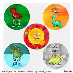 Cute Happy Fun Dinosaur Collection Kids' Labels #Onmeprints #Zazzle #Zazzlemade #Zazzlestore #Zazzlestyle #Cute #Happy #Fun #Dinosaur #Collection #Kids #Labels Waterproof Labels, Kids Labels, Kid Closet, Personalized Labels, Children Clothing, Happy Fun, Consumer Products, Cute Designs