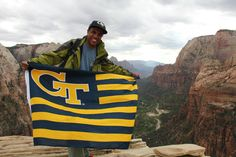 Reppin' GT at Zion National Park