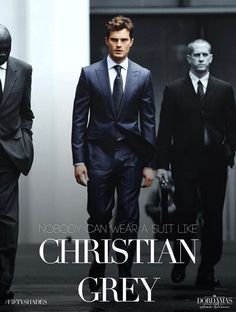 http://www.pinterest.com/lilyslibrary/ Nobody can wear a suit like Christian Grey... ~ Fifty Shades of Grey Movie...