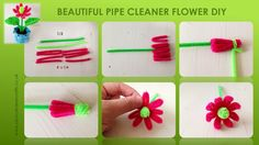 pipe cleaner flower how to. the rest on my site www.pipecleanercrafts.co.uk