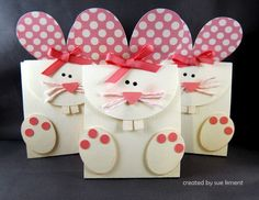 Funny Bunnies treat bags - this lady also made ducky ones too (although they look like chicks to me)