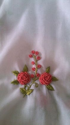 An Encyclopedia of Ribbon Embroidery Flowers: 121 Designs (American School of Needlework, No. Bullion Embroidery, Brazilian Embroidery Stitches, Hand Embroidery Dress, Embroidery On Clothes, Hardanger Embroidery, Learn Embroidery, Silk Ribbon Embroidery, Hand Embroidery Patterns, Embroidery Works