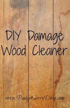 DIY Damage Wood Cleaner Cup Oil And Cup Vinegar, Use A Cloth And Wipe It On  Your Damaged Or Revived Wood And Make It Look As Good As New.