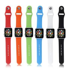 Brand new and high quality Silicon material with stylish finish. designed to fit Apple Watch and design, simple, durable and elegant. quality alternative strap to match the iWatch. Type: Wrist Band for Apple Watch. Apple Band, Apple Watch Bands, Apple Watch Silver, Apple Watch Wristbands, Apple Watch Iphone, Fitness Bracelet, Apple Products, Metal Buckles, Watches