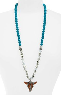 79dc87360a8e0 Free shipping and returns on Natasha Beaded Ram Pendant Necklace at  Nordstrom.com. A