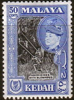Malay State of Kedah 1957 SG 99 Aboriginies with Blowpipes Fine Mint SG 99 Scott 90 Condition Fine MNH Only one post charge applied on multipule