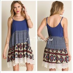 listing for @monalisa6322  Aztec 3 tier tank dress size medium 2 a T Boutique  Dresses