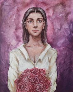 Mona Lisa, Roses, Paintings, Canvas, Artwork, Instagram, Tela, Work Of Art, Pink