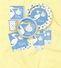 STORK BABY Shower Party Supplies~  Boy or Girl  ~ Pick 1 or Many To Create SET