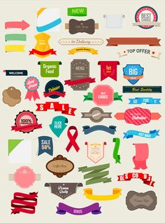 Vintage Ribbons and Labels