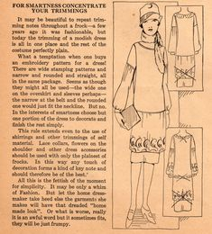 Home Sewing Tips from the 1920s - The Art of Trimming a Frock