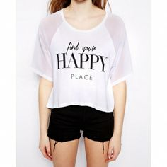 Letters Printing Loose Knit O-Neck Women T shirts