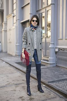 Leandra Medine Man Repeller F/W 2014 New York Fashion Week Mode Outfits, Fall Outfits, Fashion Outfits, Womens Fashion, Fashion Boots, Blazer Fashion, Summer Outfits, Casual Outfits, Looks Street Style