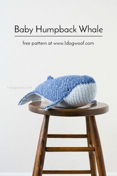 Humpback whale amigurumi with free crochet pattern. Makes a great DIY gift or nursery decor! | http://www.1dogwoof.com