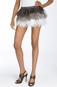 Haute Hippie Ombre Feather Skirt