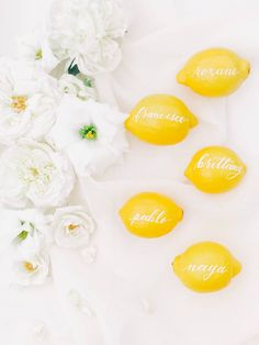 Find inspiration from a lemon themed wedding! With unique bright and vibrant pops of color these lemons brought even more light to an already sunny San Diego Wedding. Pantone, Seaside Wedding, Italy Wedding, Yellow Wedding, Wedding Colors, Posy Flower, San Diego Wedding, Wedding Gallery, Wedding Table
