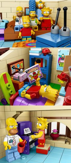Now you can build your very own Springfield home! Simpson's Lego House