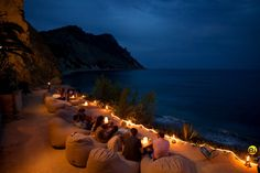What a great setting for the 'Fusion Stone' cordless lamp at Amante Beach Resort, Ibiza.