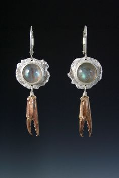 Sea Water and Claw Earrings
