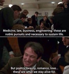 Great advice from Robin Williams.