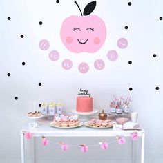 of My Eye Birthday Party Dessert Table from an Apple of my Eye Themed Birthday Party via Kara's Party Ideas Birthday Party Decorations Diy, Girls Birthday Party Themes, Girl Birthday, Birthday Parties, Dessert Table Birthday, Turtle Birthday, Turtle Party, Carnival Birthday, Apple Birthday
