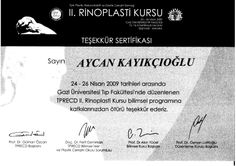 Rinoplasti Sertifikası 2009