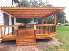 Outdoor Living: Cass City MI... New cedar deck and pergola