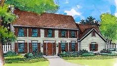 This two-story salt box home features a floor plan designed for today's living encased in a gorgeous classic facade.