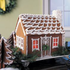 This recipe is used to make our Snow-Swept Gingerbread Cottage.