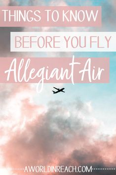 "Allegiant Air is a budget airline that's been in the news for a ""poor safety record."" It also offers extremely cheap flights to vacation destinations across the United States. So, should you fly Allegiant? Check out my review and things you should know before flying Allegiant Air! // #AllegiantAir #TravelTips #Airlines #AWorldinReach"