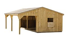 I'd love the goat barn to have a nice overhang for optional goat shelter when they're playing outside. Sheep Shelter, Goat Shelter, Horse Shelter, Horse Shed, Horse Barns, Horses, Barn Plans, Shed Plans, Goat Shed