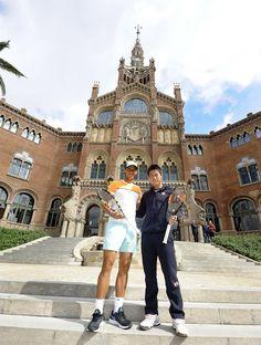 Open Banc Sabadell in Barcelona : Kei Nishikori and Rafael Nadal