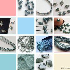 Blue Rough Diamonds - Beautiful Collection In Blue Diamonds. From diamond dust, diamond sticks, diamond cubes, rose cut diamonds, diamond connectors, diamond rosary chains, rough diamond strand, loose diamonds, diamond slices- shop now at unbeatable price