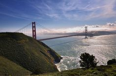 The view of the Bridge from the Marin Headlands