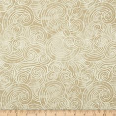 """Essential Dotty Waves 108"""" Wide Quilt Back Ivory from @fabricdotcom  Designed for Wilmington Prints, this 108'' wide quilt backing is perfect for adding just the right finishing touch to your quilts as well as duvets, pillows, dust ruffles, light curtains and more!"""