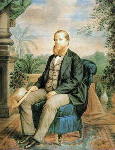 Fotografia colorida a mão . D. Pedro II