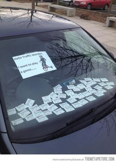 How to mess with the parking inspectors!