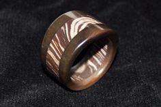 Biggs Jasper and Tree Bark Rhyolite Stone ring