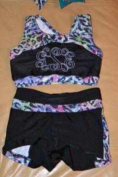 Fierce & Feminine cheer/dance practice wear - X back crop top/sports bra - monogram available by FlippinCuteCheerGear on Etsy https://www.etsy.com/listing/196524330/fierce-feminine-cheerdance-practice-wear