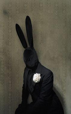 Sinister Rabbit Sunday best Black Bunny, by Matthu Placek