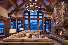 My dream of massive corner sofa wow what a view