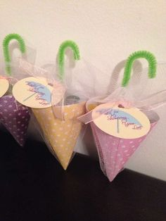 In case the paper tea cup idea is too hard to do. These can hold the candy from the candy bar for favors.