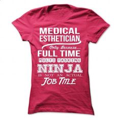 MEETING-PLANNER - Job title - #clothing #shirt design. PURCHASE NOW => https://www.sunfrog.com/No-Category/MEDICAL-ESTHETICIAN--Job-title-9183-HotPink-Ladies.html?60505