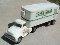 TOY STAMP & 1950s TONKA JOLLY GREEN GIANT SEMI TRUCK & TRAILER SET #2
