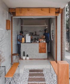A month old coffee shop in Bali, Mannaka Bali offers you a various choice of cof… - restaurant design small - Coffee Cafe Shop Design, Small Cafe Design, Kiosk Design, Cafe Interior Design, Coffee Cafe Interior, Small Restaurant Design, Small Coffee Shop, Coffee Store, Mini Cafeteria