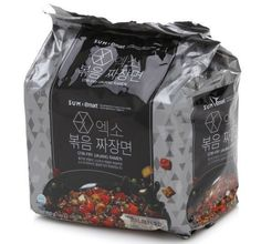 EXO Stir-Fry jjajang Ramen  S U M x Emart 140g (1, 3, 5 Pcs) Free Shipping. #OTTOGI