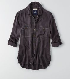 c85197de20d6 Clouded Ink AEO Boyfriend Shirt American Eagle Outfitters Tops
